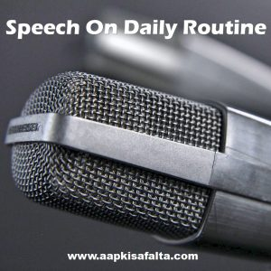 speech on daily routine and activities in hindi