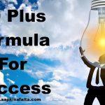 40 प्लस फॉर्मूला से सफलता कैसे प्राप्त करें?