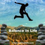 balance in life hindi