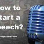 how to start a speech hindi