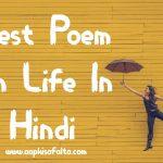 poem on life hindi